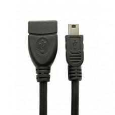 Кабель Extradigital OTG USB 2.0 AF – Mini USB Тип B 0,5м